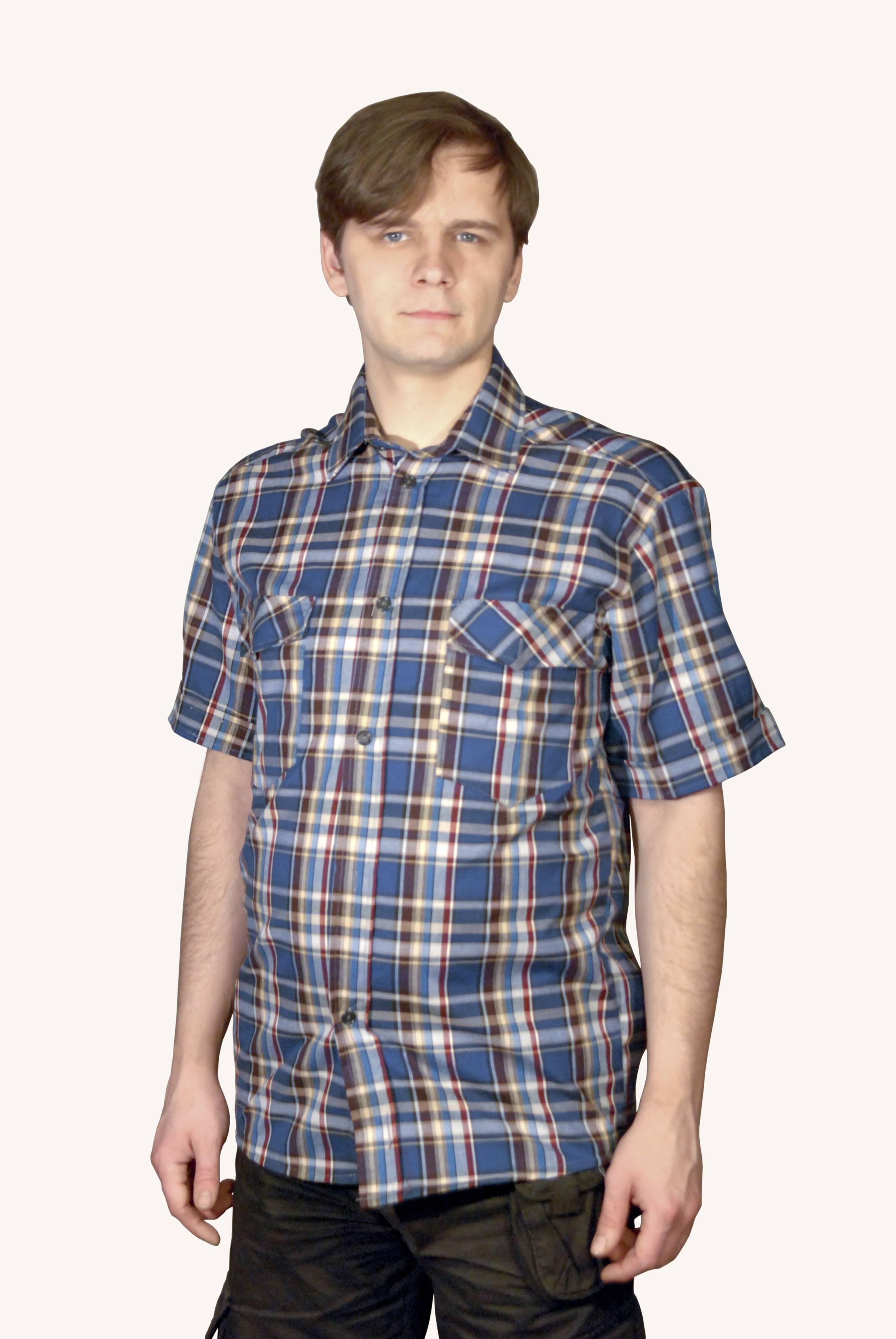 Рубашка шотландка короткий рукав | купить ивановский текстиль оптом