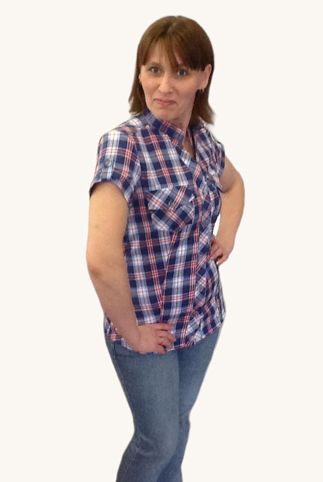Блузка клетчатая из шотландки