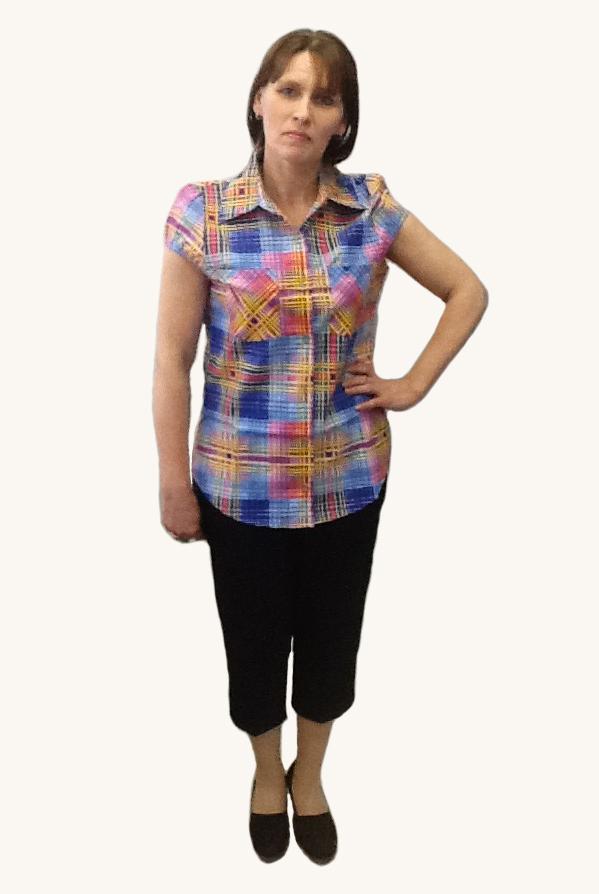 Рубашка женская бязь (короткий рукав)   купить ивановский текстиль оптом