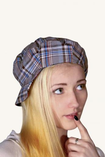 Кепка шотландка | купить ивановский текстиль оптом