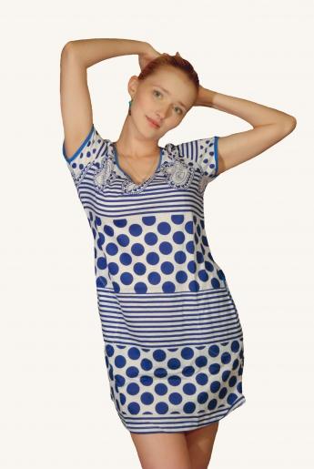 Туника укороченная (кулирка) | купить ивановский текстиль оптом