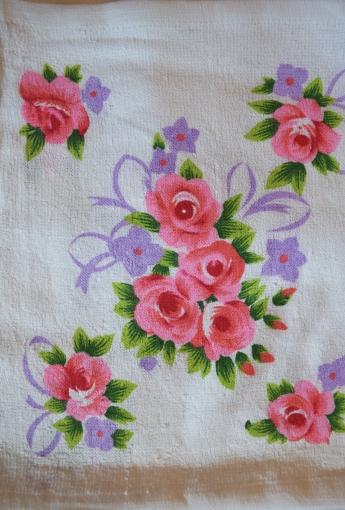 Кухонные салфетки, розовая расцветка