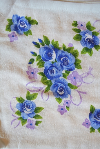 Кухонные салфетки, синяя расцветка