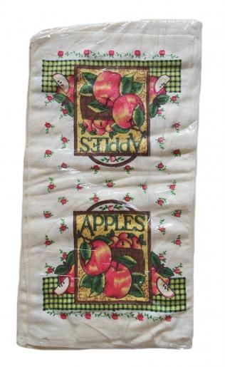 """Полотенце кухонное махровое, рисунок """"яблоки"""""""