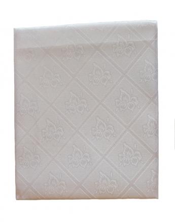 Тефлоновая однотонная скатерть, цвет - белый