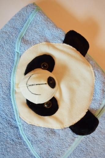 Уголок детский синий с пандой