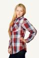 Рубашка женская шотландка (длинный рукав) | купить ивановский текстиль оптом